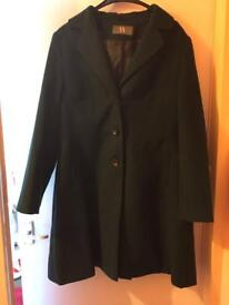 Green coat size 18