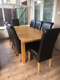 Table and chairs