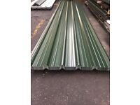 Box profile roofing sheets, juniper green polyester x 1 meter cover