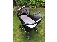 Silver cross pram, car seat, isofix, carry cot and cover