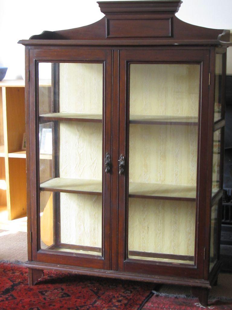 Edwardian shabby chic antique mahogany display cabinet  : 86 from www.gumtree.com size 768 x 1024 jpeg 88kB
