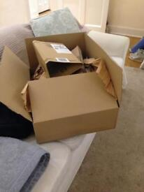 Good size box and packing material