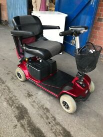 RED Pride REVO Car Boot 4 Wheel 4mph Mobility Scooter Electric Mid Size .