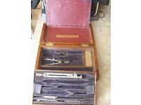 """COMPASS SET BOX BY """"W H HARLING LTD"""" DATED 1940"""