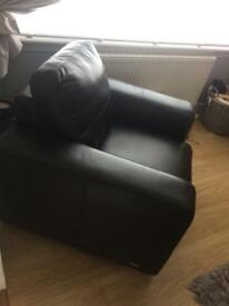 #Sold# Real Black Leather Chair