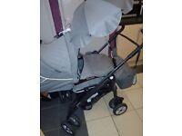 Grey baby style pram