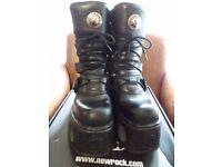 New Rock black platform boots (style M.373 S2) Unisex