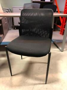 Mesh Back Armless Guest Chairs - $49