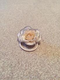 Cream flower hair bobble