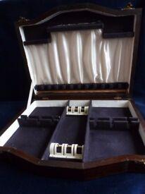 wooden cutlery box vintage