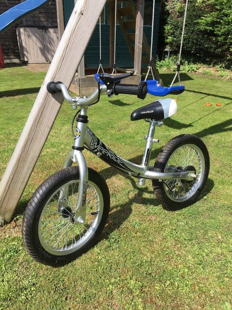 WeeRide deluxe kids silver balance bike