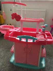 Baby change/feed/bath station