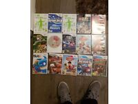 Wii console and Wii fitness board Plus games