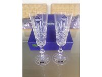 A pair of Edinburgh Crystal Champagne Flutes with Box, £15