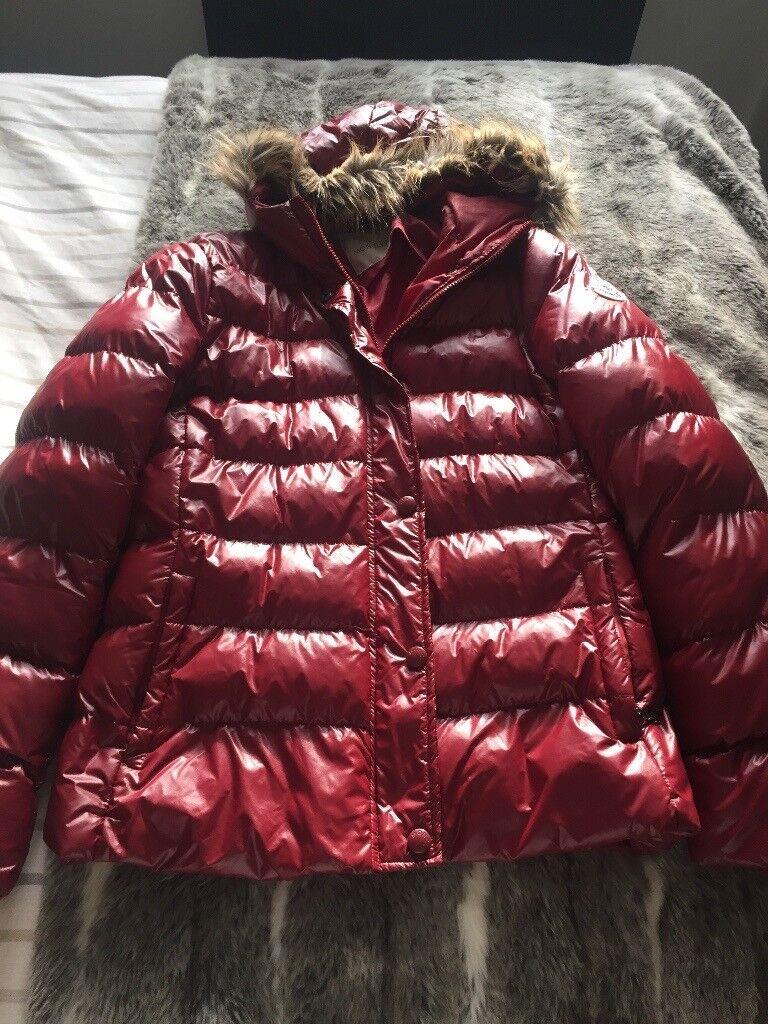 Ladies red waterproof coat