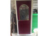UPVC Front door H:206 cm, W: 91 cm ( NEVER FITTED)