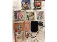 Nintendo DS lite pink with games, charger and case