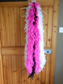 3 Feather Boas - Black, White and Hot Pink!