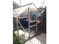 Aluminium Greenhouse 8ft x 6ft (Free to dismantler)