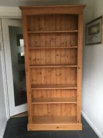 Solid waxed pine bookcase
