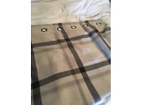 Next curtains - grey checked
