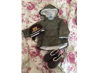 Baby 9-12 H&M waterpoof jacket shoes and hat