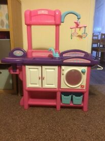 Step 2 love and care deluxe nursery dolls Highchair role play