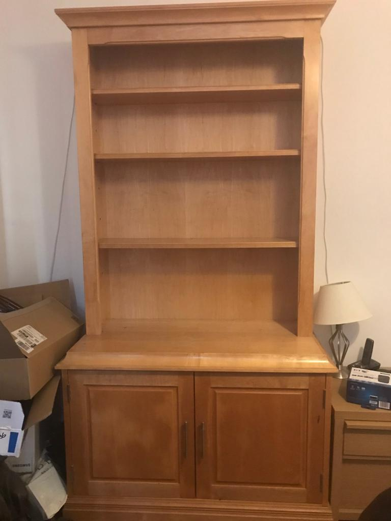 Beautiful Solid Maple Cabinet Bookcase Reduced In Wood Green
