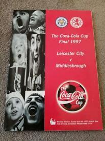 1997 League Cup Final Program Middlesbrough/Leicester FC