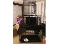 Dog Cages - 1 Large & 3 Medium