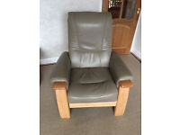 Miranda Collection 3 Piece Leather Suite plus Footstool - Excellent Condition £250 ONO