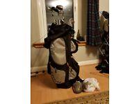 Macgregor Golf clubs and bag. Plus big bag of balls