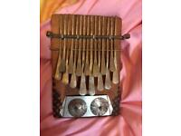 Rustic scorched Handmade African Kalimba instrument for sale