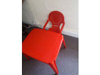 Toddlers Red Table & Chair Set in great condition