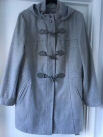 Ladies Coat Grey Duffle Style Size 16/18