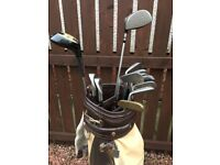 Ful set of MacGregor Heritage golf clubs plus bag and a South African Pro Force 70 driver