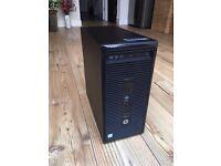 Refurbished, HP ProDesk 400 G3 Microtower PC, Intel i3-6100 CPU, 8GB DDR4 RAM, SSD+HDD