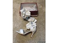 Ankle heel sandals size 4 brand new in box
