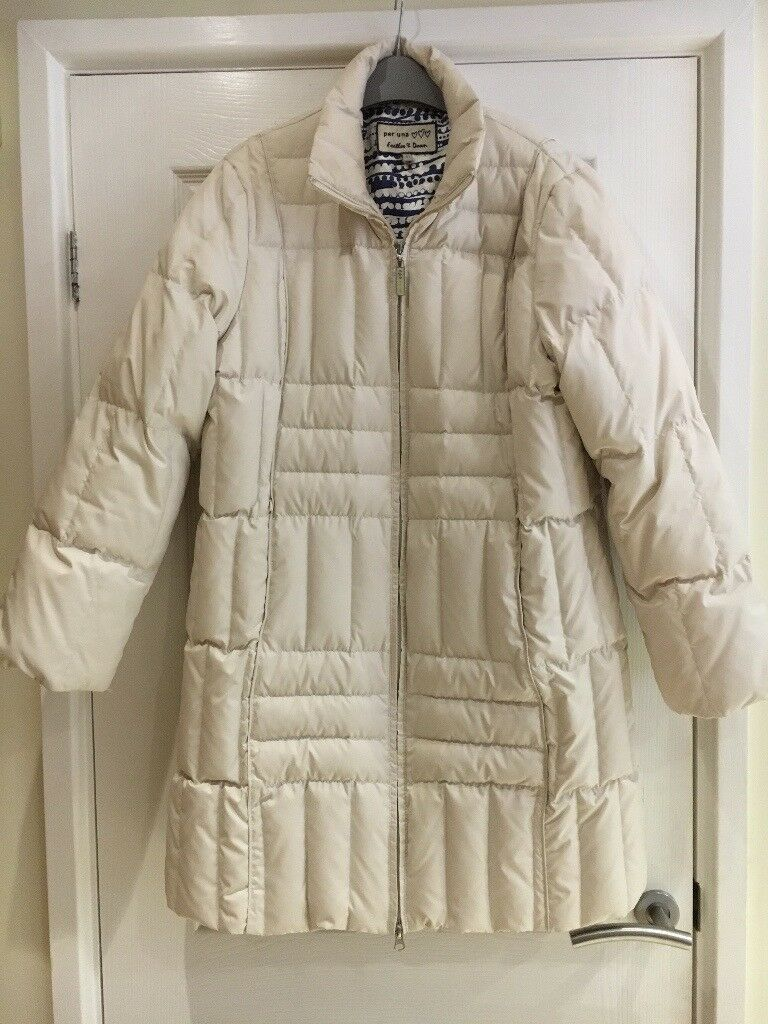 Per Una cream feather and down coat