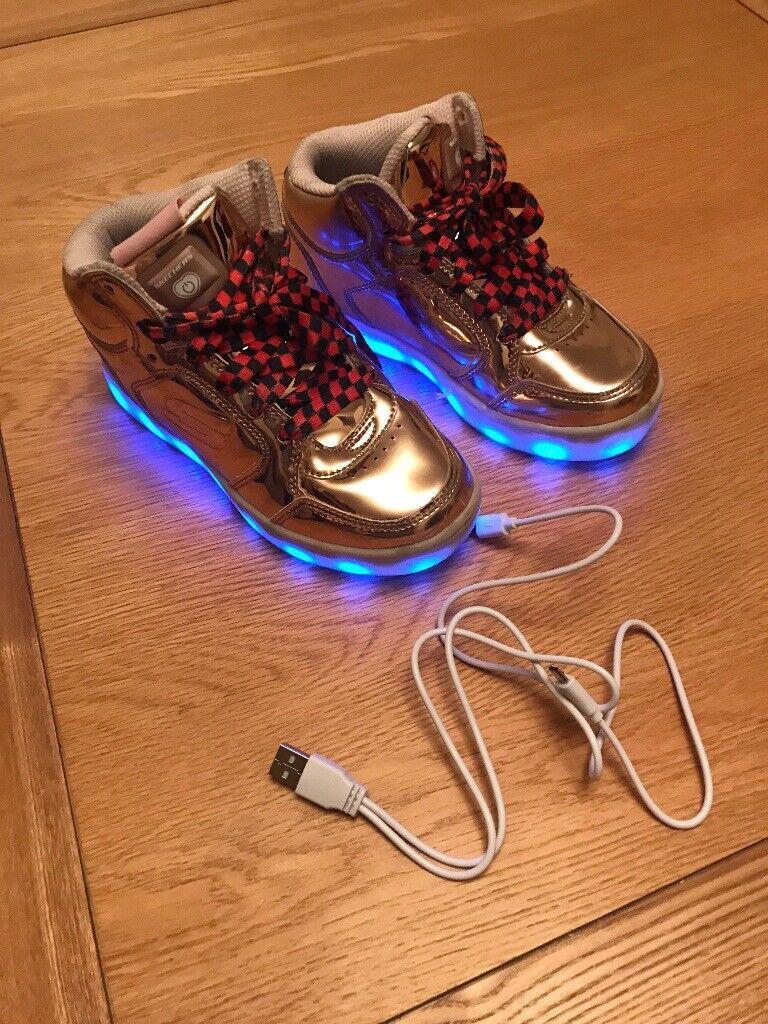 2d09747ab5d Childrens Skechers S Lights:Energy Lights - Gold | in Swallownest ...