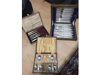 Vintage Boxed EPNS cutlery sets
