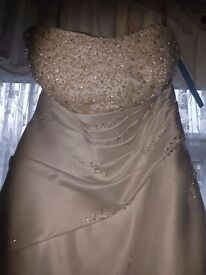 NEW alfred anglo dress 18 shoes 7 and bm dress 16 gold shoes 7 gold and bag