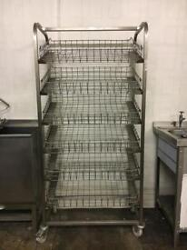 Commercial bakery tray racking