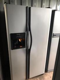American Electrolux fridge freezer silver