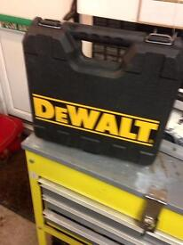 Empty Dewalt drill case