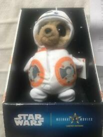 Baby Oleg Star Wars limited edition meerkat toy with certificate