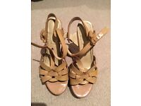 YSL tribute sandals used beige size 39