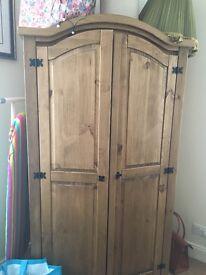 Pine wardrobe .Free to good home.!