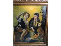 Original oil painting by Polish artist Wlastimil Hofman (1881-1970)