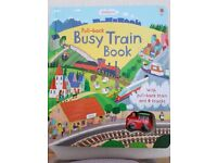 BUSY Train Book exciting with a mini train
